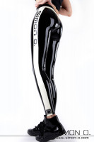 Preview: Sporty latex leggings for every day Sexy latex leggings for every day - the two-color design emphasizes their expression. They become a statement for the …