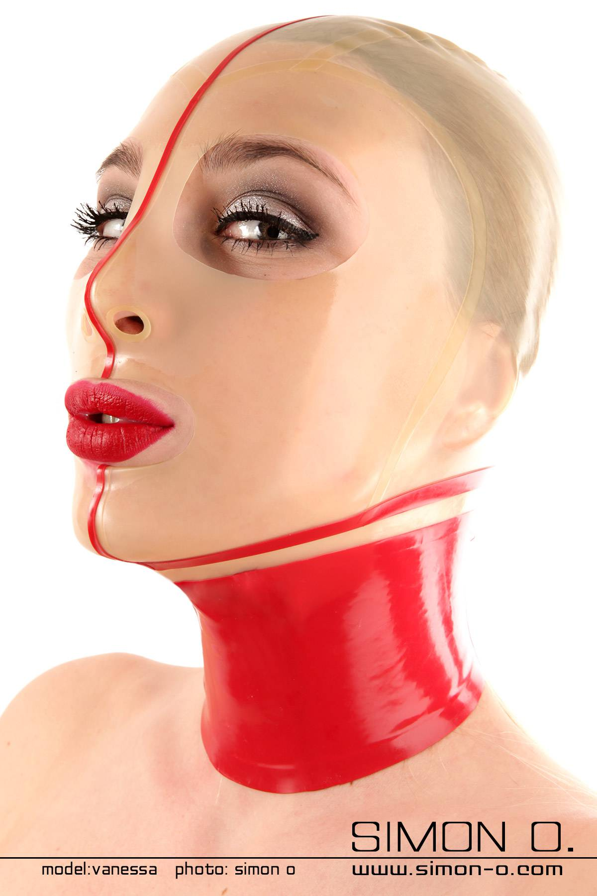 Thin latex mask with a hot seamed stockings look You can decide if your rubber hood shall feature eye and mouth openings or not.You choose the colour and …