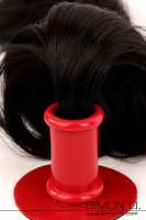 Vorschau: Einfarbiger Tubus - Halterung für Poytail Der Tubus ist der kleine runde Teil welcher das Haarteil aufnimmt. Er wird mit einer starken Latexplatte aus 2.5 mm …