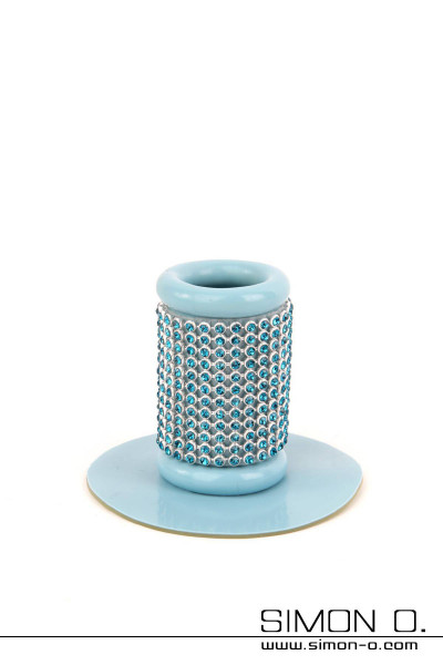 Plain tube with rhinestones - holder for hairpieces This tube with rhinestones allows you toutilise our interchangeable hair pieces and give your …
