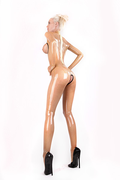 Transparenter Damen Latex Catsuit