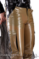 Preview: Latex cargo pants for men with detailed workmanship These latex cargo pants for men feature 6 pockets which offer space for everything you need. They're a …
