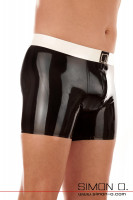 Vorschau: Latex Unterhose für Herren - Latex Unterwäsche für den gazen Tag Sanft schmiegt sich diese Latex Unterhose Ihren Körper an und erlaubt es Ihnen …