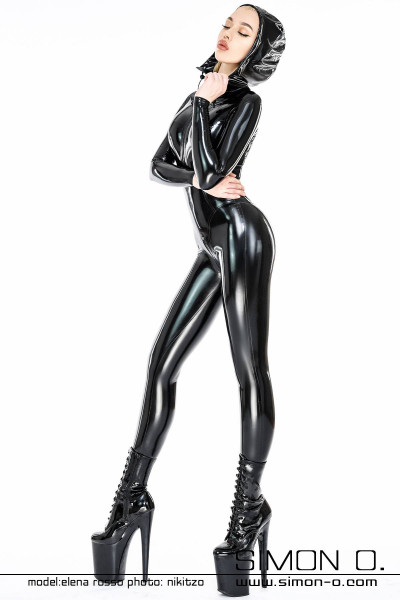 Our gorgeous latex catsuit comes complete with a convenient hood. This skin-tight latex catsuit is manufactured using our 0.25mm thin latex material and we …