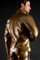 Vorschau: Herren Latex Jacke Extrem aufwendig und mit sehr viel Liebe zum Detail geklebte Latex Herrenjacke aus dickem Latex (0.6mm teilweise 1,0 mm). Der Bund sowie …