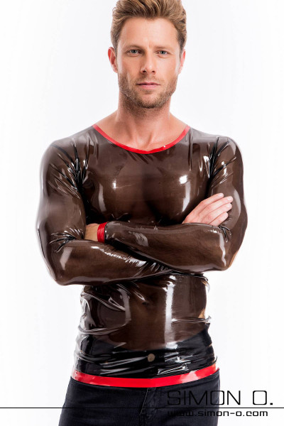 This eroticly skin tight rubber shirt with round neckline and long sleeves is made from our finest rubber. For inexperienced latex fetishists it might be a …