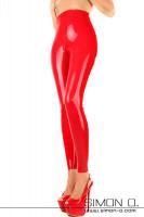 Vorschau: High waist Damen Latex Leggings mit hohem Bund Hautenge Latex Leggings mit hohem Bund welcher hoch bis über die Taille geht. Mit dieser anschmiegsamen zweiten …