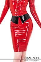Preview: This extraordinary latex skirt is equipped with a striking lapel collar as waistband for a vintage style look. In the style of our latex blouses, this skirt …