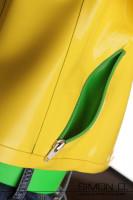Vorschau: Damen Latex Jacke Taschen Detailfoto