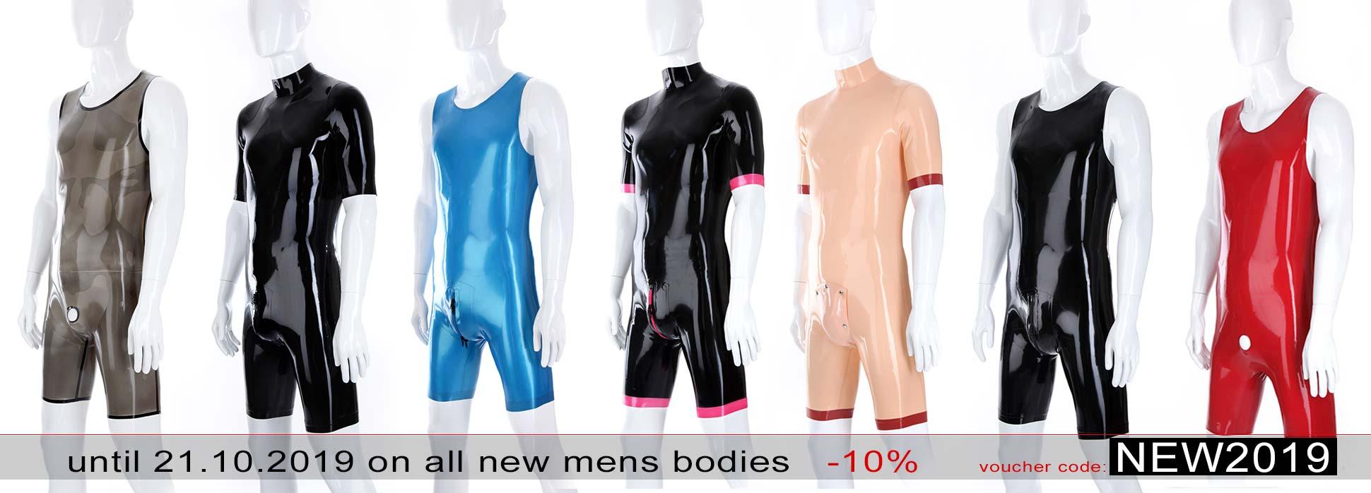 Latex Surfs Suits for men in varoius colours