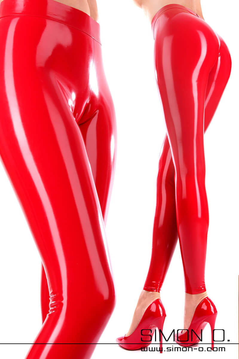 "Our special skin-tight ladies latex leggings captivates with its sexy ""Cameltoe-Effect"" The leggings are made form the finest latex material and is …"
