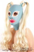 Vorschau: Latex Maske mit Katzenaugen vorbereitet für 2 Haarteile Durch die Mund und Augen Form wirkt die Latex Maske besonders erotisch und sinnlich. Daher …