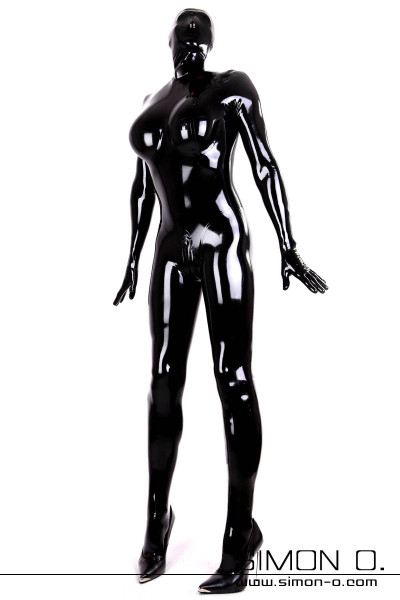 Rubberdoll Catsuit for Men Rubber Doll Outfit with integrated cups for silicone breasts