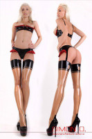 Preview: Retro latex stockings in the 50s look Especially erotic vintage inspired latex stockings glued from fine latex. Of course, these retro latex stockings with …