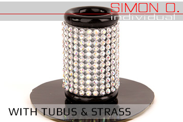 tube with rhinestones - hairpiece holder
