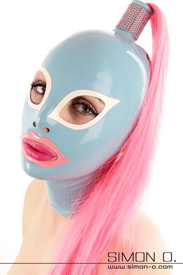 Latex Maske mit Haarteile