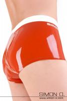 Vorschau: Herren Latex Pant mit abnehmbaren Codpiece Angenehm zu tragende Herren Pant aus 0.40 mm Latex mit eingearbeiteten Kondom oder Cock Ring welche hinter einem …