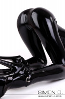 Preview: Latex catsuit with anatomically shaped breast cups Sexy latex catsuit with built in anatomically shaped breast cups. The cups in this latex catsuit are …